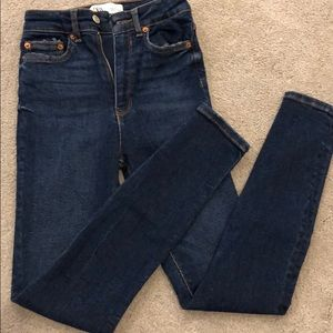 Dark skinned high waisted denim jeans
